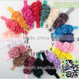 2015 new fashion 3 artificial flowers headband flower plastic hair accessories MY-AB0048