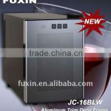 FUXIN:JC-16BLW.Thermoelectric refrigerated wine storage hold 6 bottles /electronic wine chiller