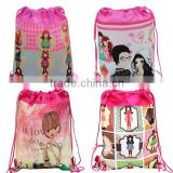 FH Girl's Backpack Kids Children Cartoon Printing Drawstring Backpack Non-woven School Bags,Baby Shoulder Backpack