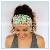 2016 Summer Style fashion women polyester lycra fabric headband teenagers stretch yoga headband