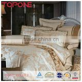 Professional manufacturer cheap jacquard satin duvet cover