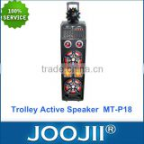 Multifunctional Trolley active speaker with rechargable battery, karaoke player active speaker with Disco laser light