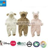 Winter spring Animal Onesie Fleece Coat for Boy Girl Baby infant Clothes Bear Pig Sheep lovely