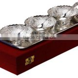 beautiful decorative new design silver plated bowl