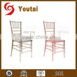 high quality resin PV plactic acrylic crystal wedding chair