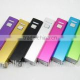 Wholesale Promotion Gift 2600mAh Metal Square Tube Mini Power Bank Portable Power Bank Free Customize LOGO