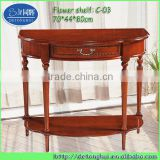 modern hallway rustic cherry wood console table C03