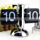 Balance Shaped Metal Auto Flip Down Clock Desktop Decorative Clock with Single Holder