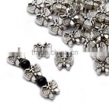 Top Quality 10x11.5mm Butterfly Style #2 Tibetan Silver Metal Spacer Beads 50pcs per Bag For Jewelry Making Findings