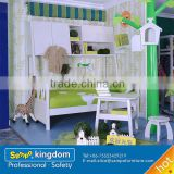 kids beds with slide of solid pine wood #SP-SC011