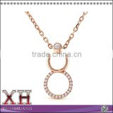Rose Gold Plate 925 Sterling Silver Infinity Necklace