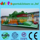 newest crocodile foot slide combo, EN14960 certified crocodile inflatable playground, inflatable fun city