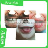 New arrival customized bar coaster beer coaster funny face mat, M-975                                                                         Quality Choice