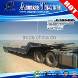 4 axle 100 Tons Folding Gooseneck Low Loader, Lowboy Semi Trailer For Sale                                                                         Quality Choice