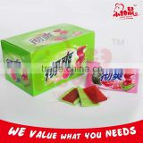 Fruity Bubble Gum with Jelly Filled / Mango Strawberry Watermelon Jelly Bubble Gum                                                                         Quality Choice
