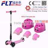 Top quality Alumnimum frame child age kick scooter part with 4 wheels
