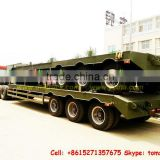military truck lowboy Trailer 2 ~4 axle Lowboy,lowbed semi trailer factory price sale Tom:86-15271357675