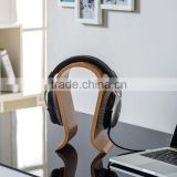 wood headphone display stand with wooden veneer HW-100