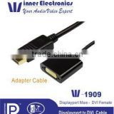 DP to DVI Cable,DP to DVI Converter, Mini DisplayPort Male to DVI Female Cable for macbook