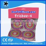 Event long throw tissue confetti frisbee streamers for promotion