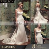 2015 New Fashion Real Photo sparkle sequin wedding dress