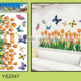 large custom butterfly living room wall sticker/pvc removable wall sticker