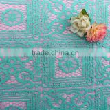 cotton nylon green geometical Floral lace swiss tulle lace fabric african high quality swiss voile african lace                                                                         Quality Choice