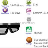 Wireless Bluetooth 4.0 Headset Telephone Polarized Driving Sunglasses/mp3 Riding Eyes Glasses