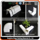 .Clean and beautiful plastic PVC rain water gutters/PVC rain gutter /rain water gutter system