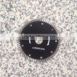 Turbo Diamond Saw Blade 5 inch (125 mm) Hot Press Sintered Blade for Grinder Cutting Hard Granite Inner Hole 22.23 mm