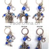 Polyester And Alloy Beads DIY Key Chain