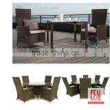 Manufacturer wholesale Fretwork Bamboo Rattan Wicker Regency Chippendale garden dining set
