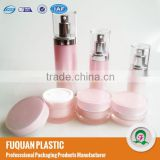 <For Europe> The color of young girl pink acrylic round and straight Cosmetic packaging set