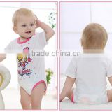 wholesale pink cartoon baby romper for baby girl newborn bodysuit                                                                                                         Supplier's Choice