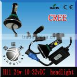 24w 2150lm 10v-32v led headlight bulb h11 manufacturer , car,offroad,truck,heaheavy truck headlightdlight.