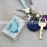 personalized printed souvenirs square blank acrylic name keychain, clear plastic acrylic key chain