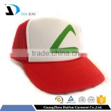 Daijun China Factory OEM High Quality Min Order New Design Red White Pockmon Go Mesh Sponge Printing Trucker Hat Custom Ash Hat