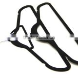 blouse hook black velvet surface Plastic clothes hanger