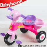 Duck shape toy plastic baby tricycle mini bike
