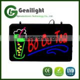 Flashing Neon Lighted Bo Ba Tea Led Animated Shop Business Sign
