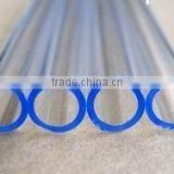 transparent twin quartz tube/fused quartz glass tubing for the coating heater Gold coating quartz glass tube for heater