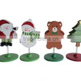 Christmas wooden crafts card holder for party or desk Decoration Wooden XMAS Crafts gifts