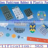 custom transparent silicone rubber keypad buttons with conductive carbon pills silicone keypads for equipments