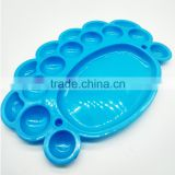 Art Craft Material Supplies Wholesale Children Watercolor Plastic Palette, Animal Foot Shaper 16 Wells Color Palette