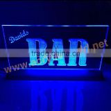 Clear Top Grade 3 Colors LED Light Lucite Plastic Decoration Sign Holder Billboard Display Holder