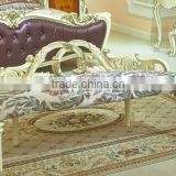 Palace Princess Sofa chair, Special Designed Wood Carved Chaise Lounge Chair, European Bedroom Furniture Chair (BF01-ML031)