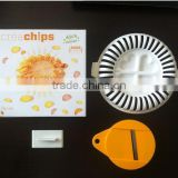 CY124 Creative Homemade Microwave Oven Baked Potato Chips Maker Device Slicer and Plate Kitchen Tool Manufacturer