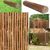 1 Roll Full willow Fence Willow Wood 6' Height willow fence