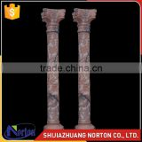 sunset red roman column carving flowers stone column NTMF-C210S