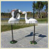 Custom artificial bird egret crane garden sculpture fiberglass egret sculpture manufacturer